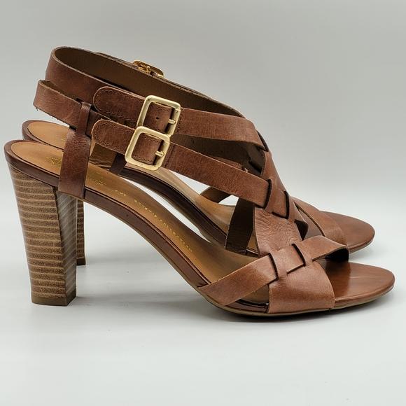 Franco Sarto strappy sandals, brown, Boho, Size 9M